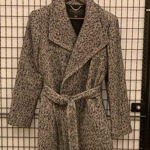 Ann Taylor herringbone wrap jacket